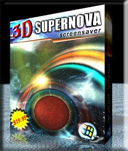 3D Supernova Screensaver Image