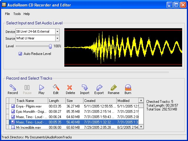 ABS AudioRoom CD Recorder and Editor Image