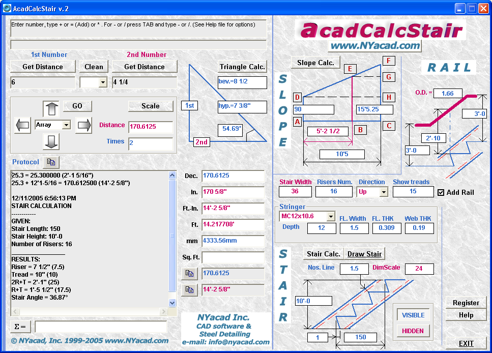 Filegets Acadcalcstair Screenshot Acadcalcstair Stair