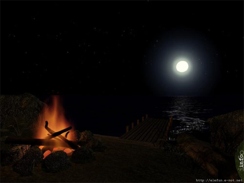 Midnight Fire - animated desktop wallpaper is