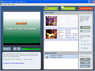 AnvSoft Video to 3GP Converter Image