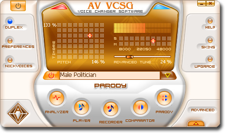 AV Voice Changer Software Gold Edition Image