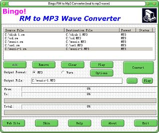 Bingo! RM to MP3 Wave Converter Image