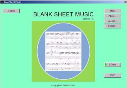 Blank Sheet Music Image