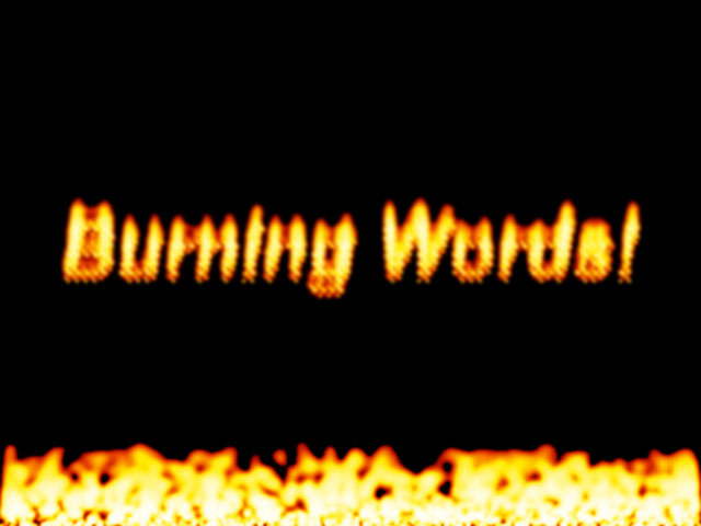 Burning Words Screensaver 1 1