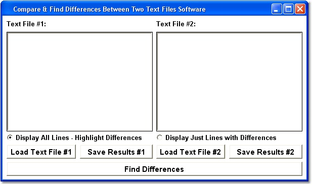 Find content differences between two specified text files differences