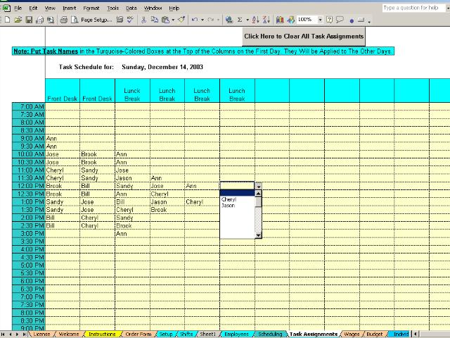 Excel Template For Daily Tasks