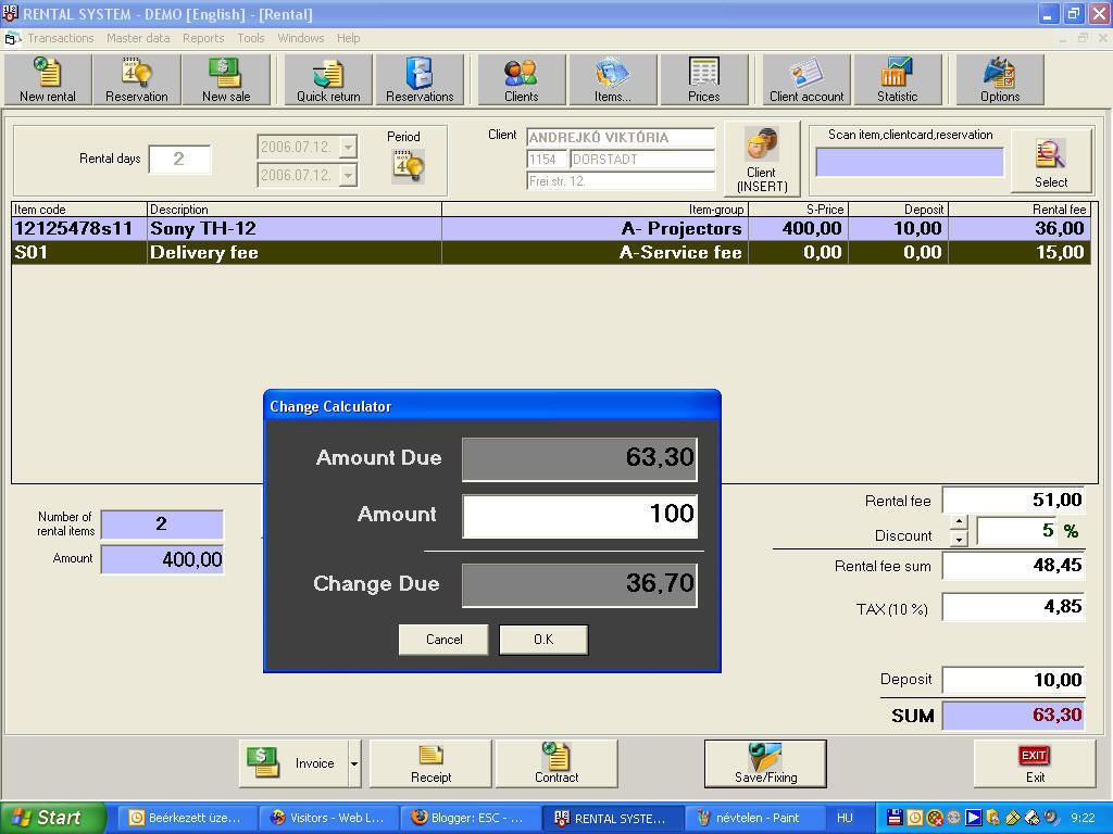 ESC - Rental Software Image