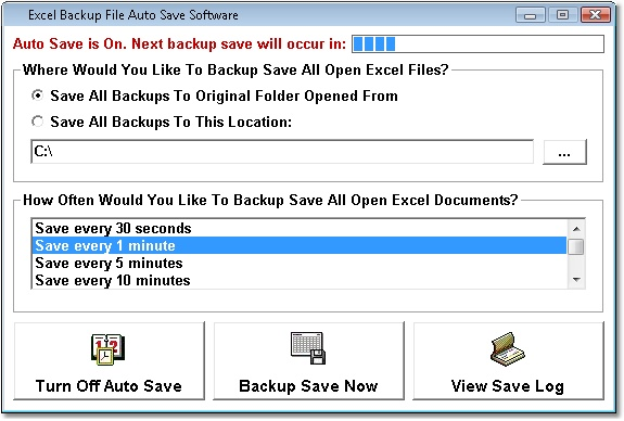 Excel Backup File Auto Save Software Image