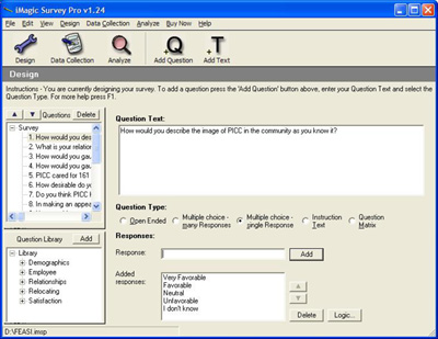 iMagic Survey Pro Software Image