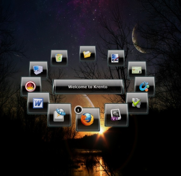 office organizer software. krento is a modern desktop organizer which combines the functionality of application launcher dock and widget engine in one small office software