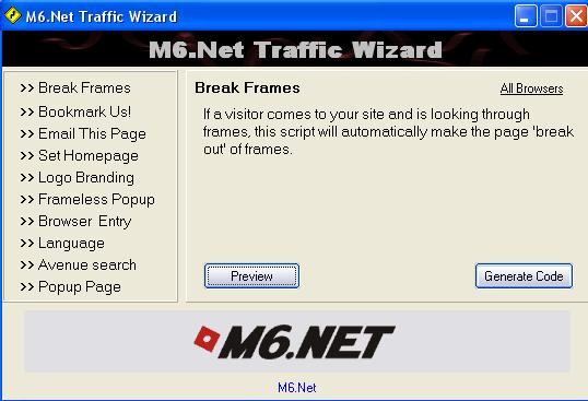 M6.Net Traffic Wizard Image