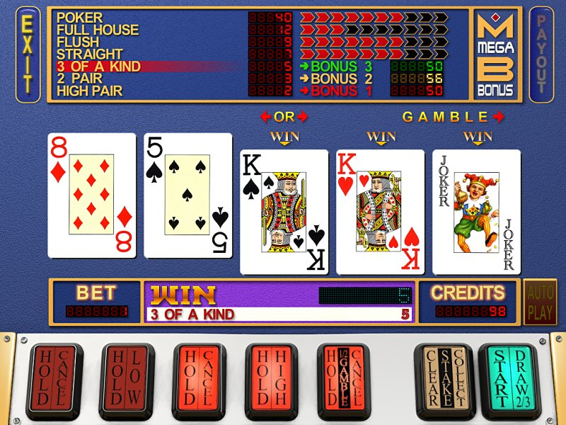 free poker machine game