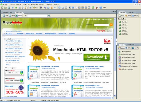 incident: визуал html редактор