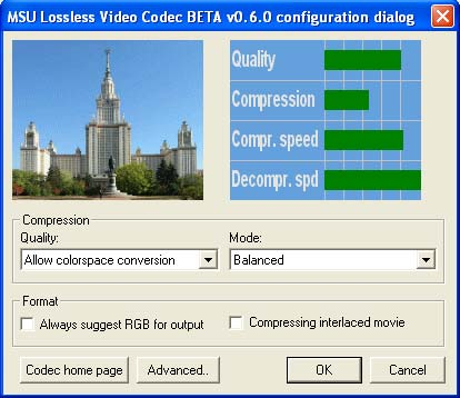 MSU Lossless Video Codec Image