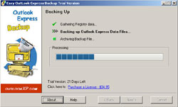Outlook XP - Easy Outlook Express Backup Image