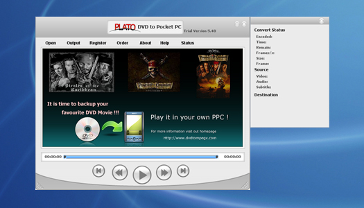 Plato DVD to Pocket PC Converter Image