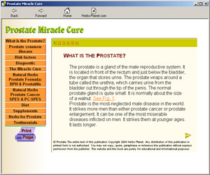 Prostate Miracle Cure Image
