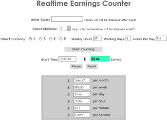 Realtime Earnings Counter Image