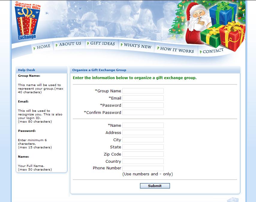 Secret Santa Forms Printable Secret gift exchange image
