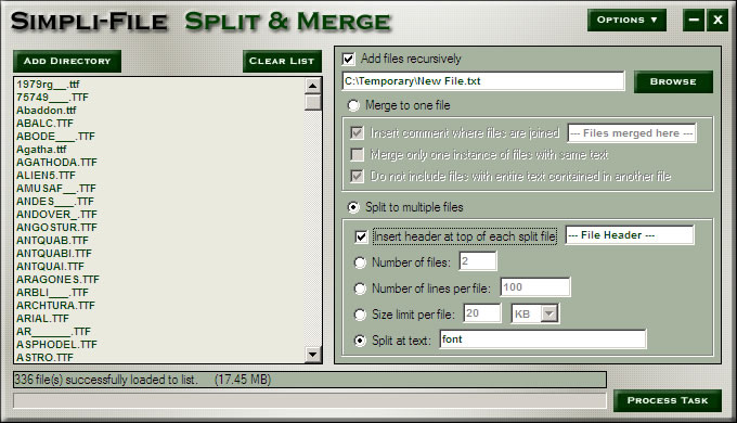 Simpli-File Split and Merge Image