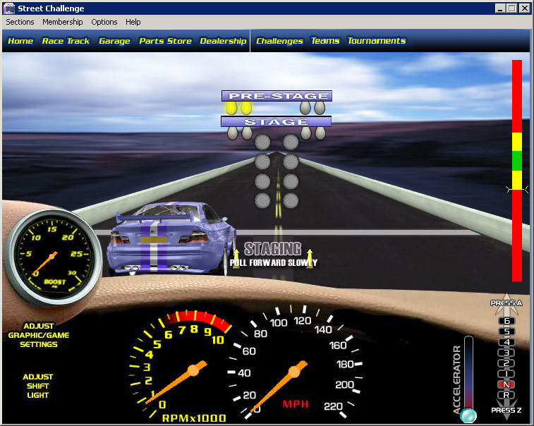 street challenge is an authentic free online multiplayer drag racing