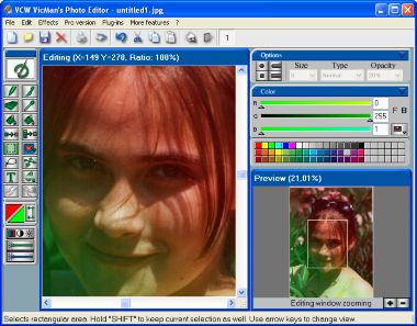 : VCW VicMans Photo Editor Screenshot - With this free image editor