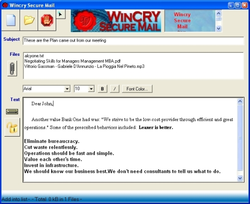 Wincry Secure Mail Image