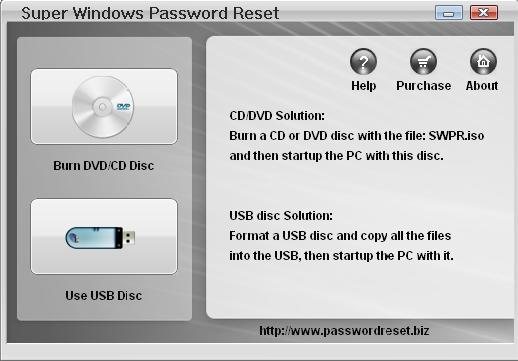 FileGets: Windows Password Reset Screenshot - Windows