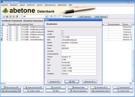 Abetone-Datenbank Software Download