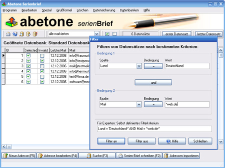 Abetone Serienbrief Software Download