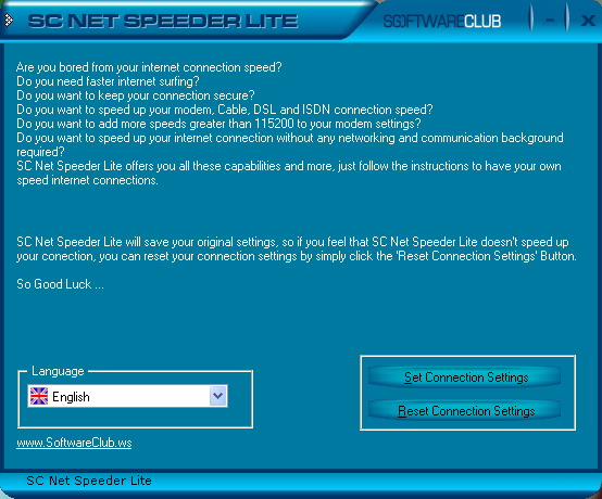 SC Free Net Speeder Lite Software Download